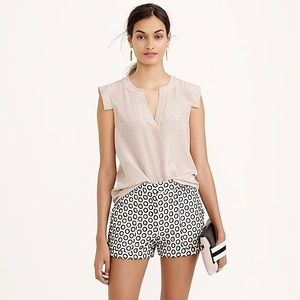 J Crew punched out eyelet short